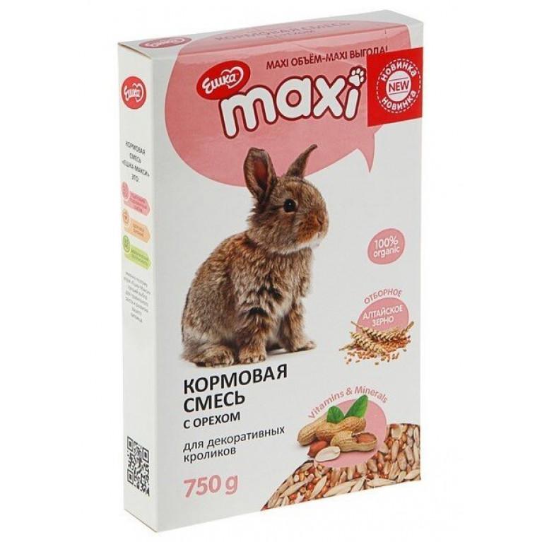 """""""Ешка MAXI"""" Кормовая смесь для декоративных кроликов, с орехами 750 г"""