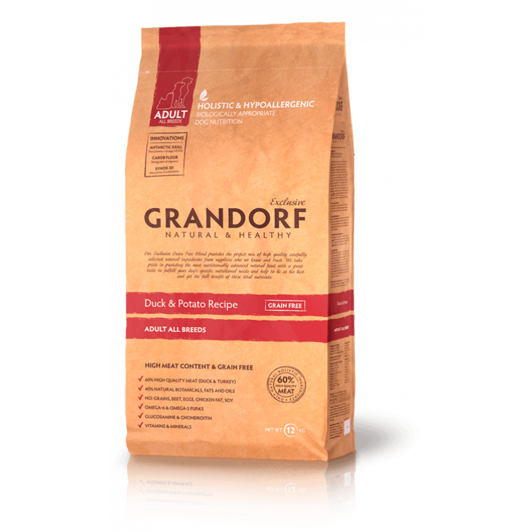 Grandorf  Duck & Potato Adult All Breeds/Для взрослых собак  (утка с картофелем )
