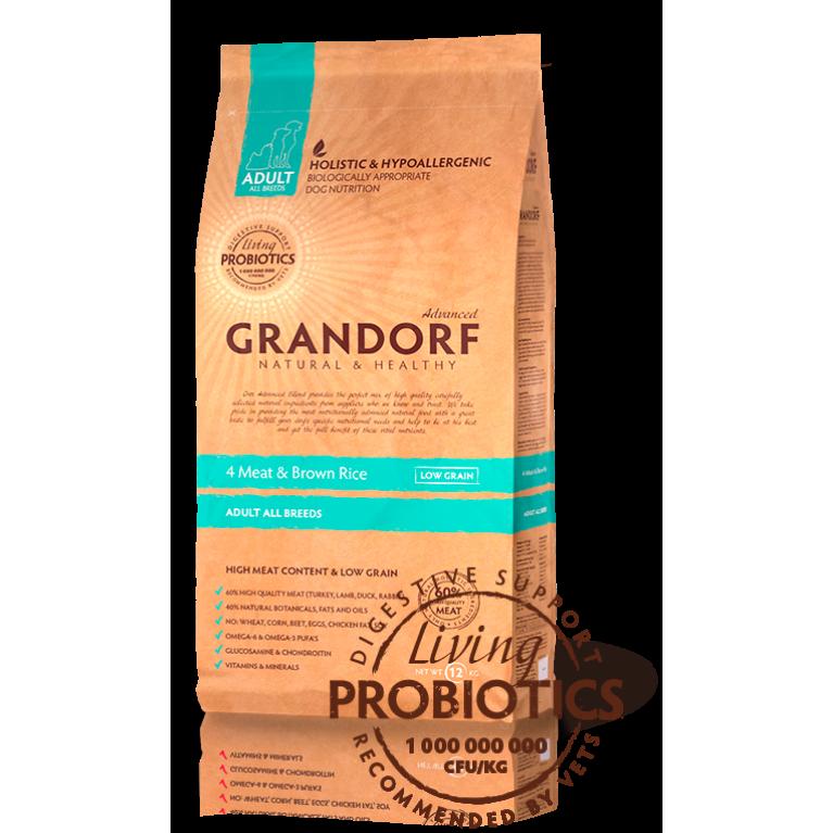 Grandorf 4Meat & Brown Rice Adult All Breeds/Для собак всех пород  (Четыре вида мяса с бурым рисом )