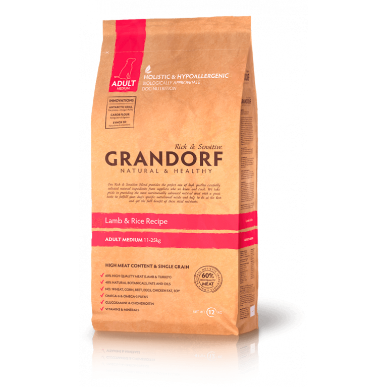 Grandorf Lamb & Rice Adul Medium Корм для взрослых собак средних пород (Ягненок с Рисом)