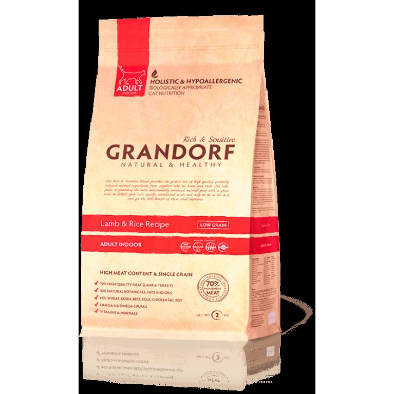 Grandorf Lamb & Rice Adult Indoor Корм для домашних кошек (ягненок и рис)