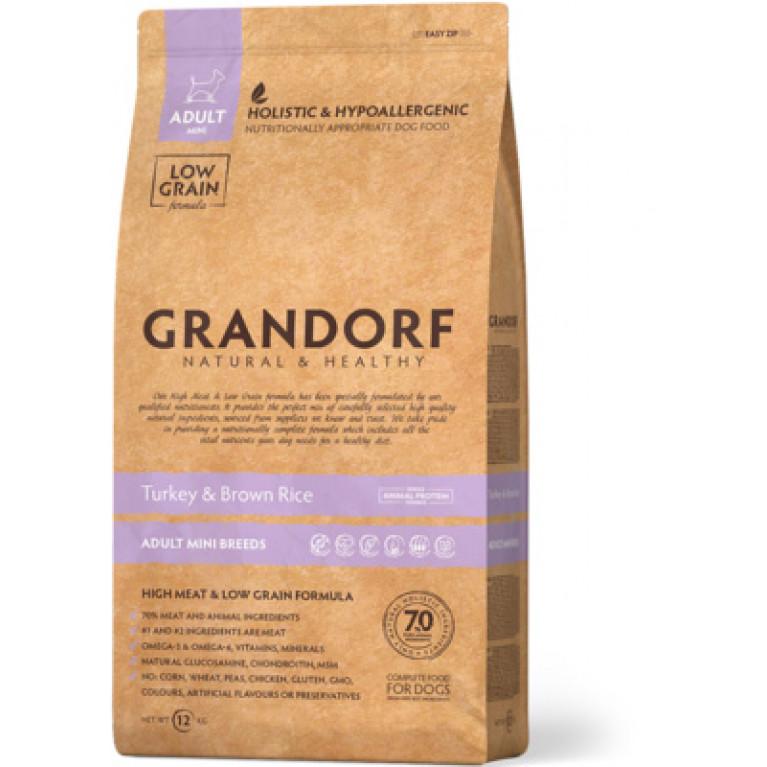 Grandorf Turkey & Rice Adult Mini Корм для взрослых собак мелких пород  (Индейка с рисом )