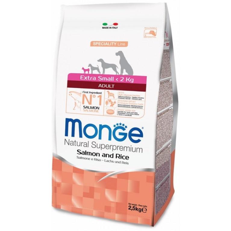 Monge Speciality Extra Small Adult Salmone сухой корм для взрослых собак миниатюрных пород с лососем и рисом