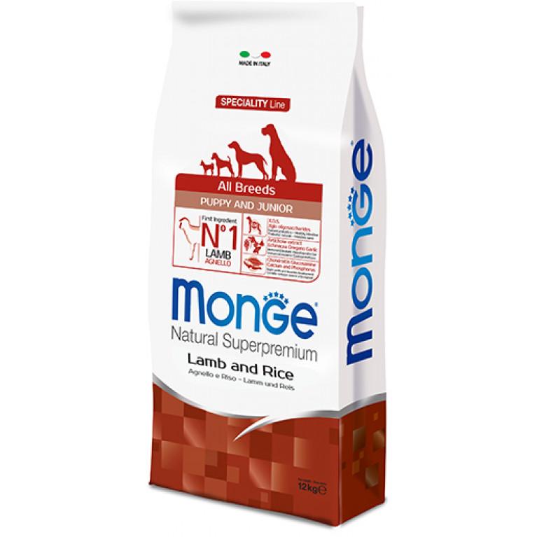 Monge Dog Speciality Puppy&Junior корм для щенков всех пород с ягненком и рисом
