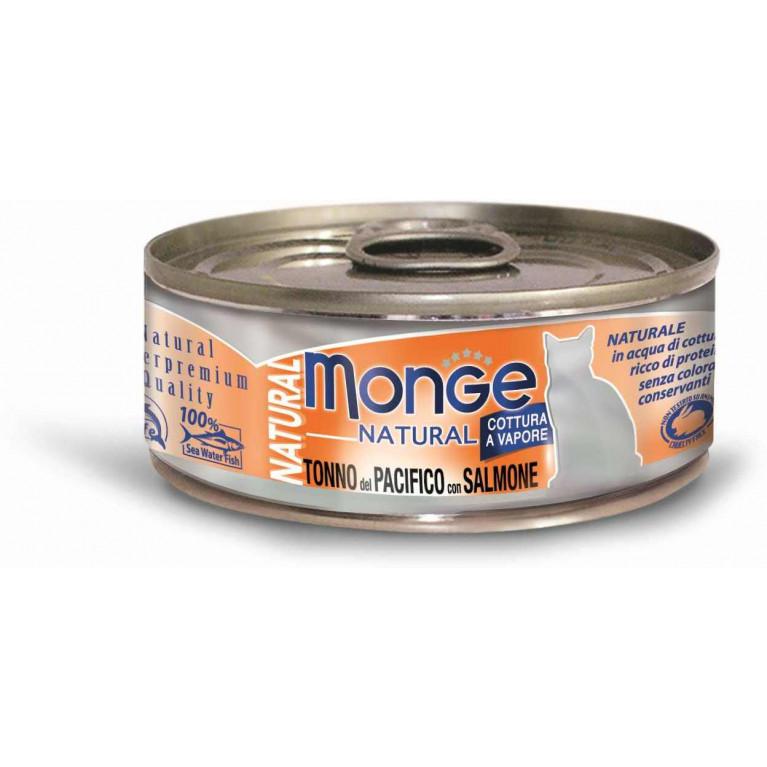 Monge Cat Natural консервы для кошек (с тунцом и лососем) 80 гр