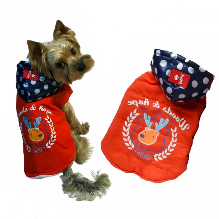 """Куртка для собак """"Wood"""" оранжевая"""
