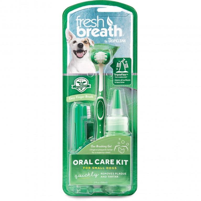 Tropiclean Свежее дыхание Набор для ухода за зубами для собак мини-пород