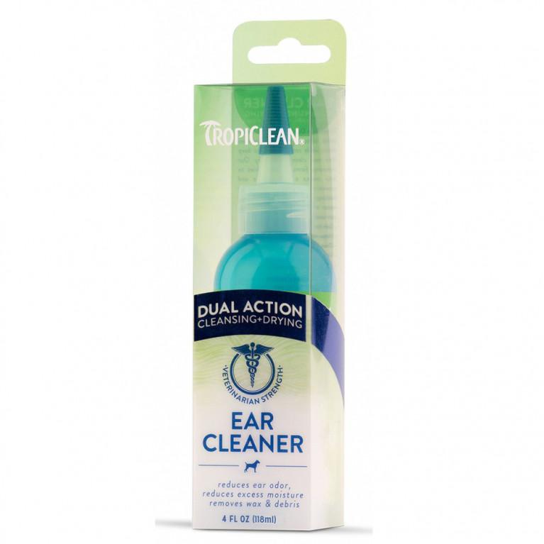 Tropiclean Ear Cleaner/Средство для чистки ушей (убирает ушной воск и неприятный запах), 118 мл