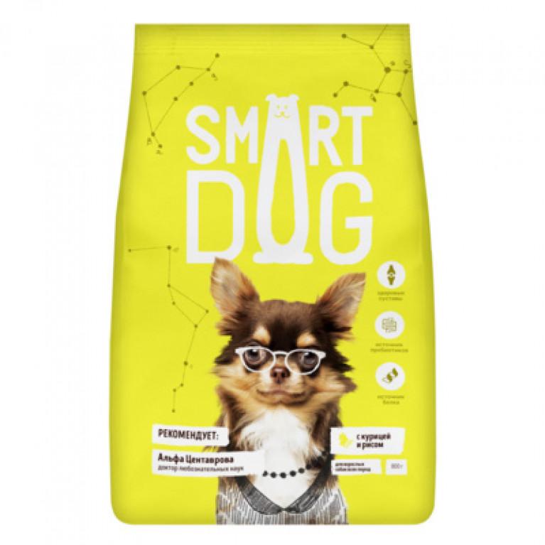 Smart Dog для взрослых собак, с курицей и рисом